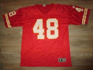 Ted Popson #48 Kansas City Chiefs NFL starter Football Jersey 52 XL mens
