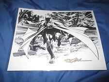 NEAL ADAMS Signed DC Comics Art Print ~Batman/Dark Knight/Gotham/Bruce Wayne