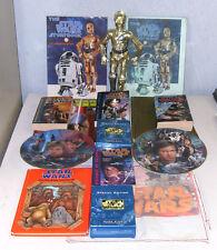 Vtg Star Wars Memorabilia Hamilton Plates C-3PO Figure Cards Books Solo Luke +