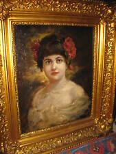 HOLOSSY Simon, *1857 Museales Mädchenportrait