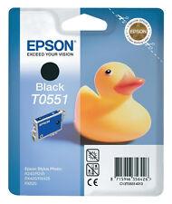 1x original t0551 tinta cartuchos Epson Stylus r240 r245 rx420 rx425 rx520