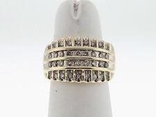 3/4ctw Genuine Diamonds 13mm Band 10k Yellow Gold Ring FREE Sizing
