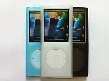 3 x Silicone Shell Protective cover cases for iPod Nano 4G Black Clear Sky Blue