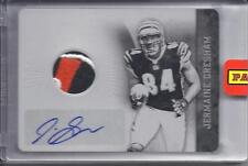 Jermaine Gresham Rookie 1/1 Printing Plate Auto Color Jersey Card Plates Patches