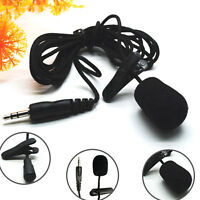 3.5mm Clip On Lapel Microphone Hands Free Wired Condenser Mini Lavalier Mic