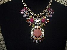 JOAN RIVERS Statement Necklace Multi Colors & Shapes Beads & Stones Free Ship