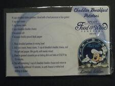 New Disney Epcot Food & Wine Festival 2014 Recipe Card Pin Mickey Mouse