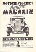 Motorhistoriskt Magasin Annons Swedish Car Magazine 3 1985 Ford 32717nonDBE