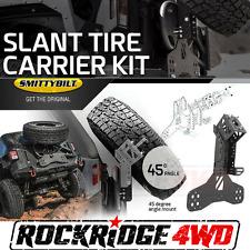 "Smittybilt SLANT Back Tire Mount Kit Jeep Wrangler JK 07-18 fits up to 37"" Tire"