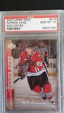RARE 2007 UpperDeck EXCLUSIVES Young Guns Patrick Kane RC 17/100 PSA 10 GEM MINT