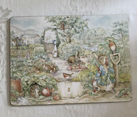 Pottery Barn Kids Cork Mat Placemat Beatrix Potter Peter Rabbit Vegetable Yard