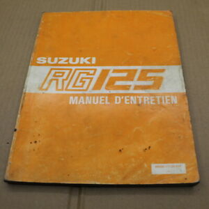 MANUEL REVUE TECHNIQUE D ATELIER SUZUKI RG 125 1986-> 125RG RG125 ENTRETIEN