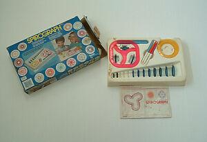 retro 1988 kenner spirograph design drawing  toy ruler shape  art kids crafts