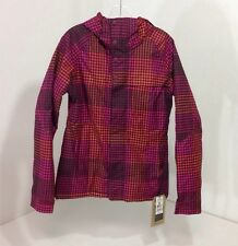 BURTON WOMEN'S METHOD JACKET SANGRIA CHECK PLAID SMALL NWT $170