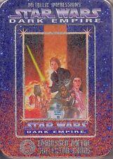 STAR WARS DARK EMPIRE 1995 METAL IMPRESSIONS FACTORY 6 EMBOSSED METAL CARD TIN