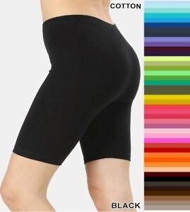 Zenana Bike Shorts Longer Length Premium Stretch Cotton S-XL Plus Size 1X 2X 3X
