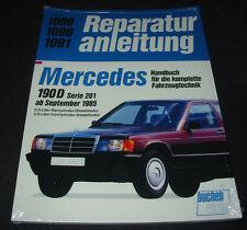 Reparaturanleitung Mercedes 190 D W 201 4 + 5 Zylinder Diesel Motor ab 1985 NEU!