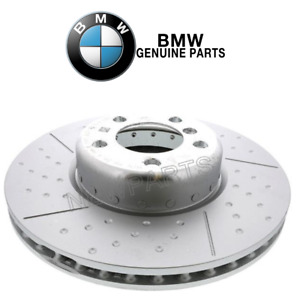 Front Cross-Drilled & Slotted Brake Disc 340x30 Genuine For BMW F22 F23 F30 F32