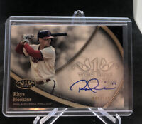 2020 TOPPS TIER ONE RHYS HOSKINS On Card Auto Phillies Signed #'d /100