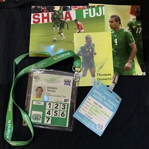Fifa World Cup Germany 2006 Player Hotel Pass Laminate Photographs Signed Card