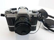 Carmera CANON AE-1 35MM SLR Film FD 50mm 1:1.8 S.C Lens With Auto Tele Covert 2X