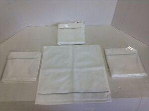 Set 4 Pottery Barn Grand Embroidered Washcloths Bathroom Shower Porcelain Blue