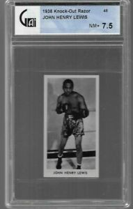 1938 KNOCK OUT RAZOR # 48 JOHN HENRY LEWIS NM+ 7.5 FAMOUS PRIZE FIGHTERS
