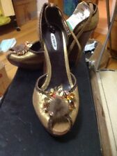 New Very Sexy LE SILLA WEDGE PLATFORM SHOES SIZE 37 good For 6,5