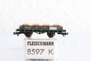 N FLEISCHMANN 8597 Kranschutzwagen DB GÜTERWAGEN boxcar OVP J55
