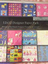 Dovecraft Kids Designer Paper Pack 12 X 12 Scrapbook Papers