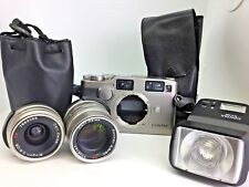 Contax G2 Date w/ 28mm, 90mm Carl Zeiss lense, Contax TLA280 Flash from Japan
