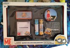 Despicable Me Minion Made Super Deluxe Chalkboard Set New !