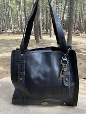 NWOT FOSSIL Black North South Vintage Reissue Large Work Satchel Tote