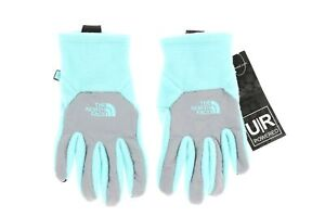 The North Face 242237 Big Kids Boys Thermal Etip Gloves Mint Blue/Grey Size M