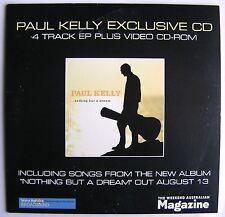 PAUL KELLY EXCLUSIVE CD 4 TRACK EP PLUS VIDEO CD-ROM