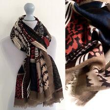 Large Leopard Print Scarf Brown Tribal Animal Zebra Big Long Cotton Shawl Wrap