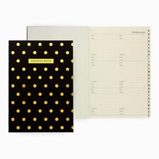 Shimmer Classic Address Book Midi Polka Black Cover A To Z Tabbed Pages