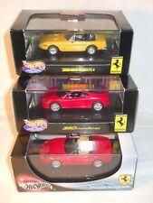 Ferrari 550 barchetta / 360 Modena / 365 GTS/4 - 3 modèles Hotwheels Mattel 1/43