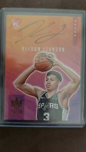 Keldon Johnson Panini Court Kings On Card Rookie Auto #'d/149