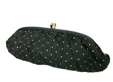 Waldy Bag - Vintage Purse / Clutch Bag - Black / Gold fabric - 1950s - Small