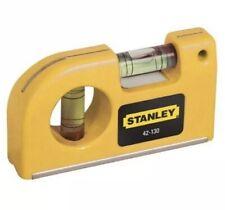 85mm Stanley Magnetic Pocket Spirit Level V Groove Base + Belt Clip 0 42 130