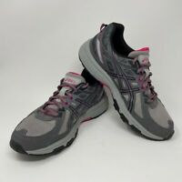 Asics Womens Gel Venture 6 Running Shoes Gray T7G7N Low Top Lace Up Sneakers 11D