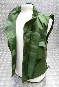 Genuine Military Issue 1980's IDF Flak Vest Cover Green Airsoft - Un-Issued