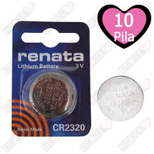 10 pz. CR2320 Renata Batteria, Pila al Litio, 150 mAh