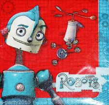 ROBOTS LARGE NAPKINS (16) ~ Birthday Party Supplies Dinner Luncheon Rodney Movie