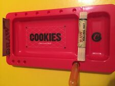 RED Cookies Rolling Tray 2.0 w/ Slideout + Rolling Mat, Doob Tube,  And Papers