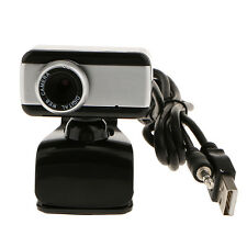 USB Webcam Camera With Microphone for Computer Desktop Laptop Black