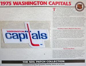 WILLABEE WARD  NHL THROWBACK HOCKEY PATCH & INFO CARD ~ 1975 WASHINGTON CAPITALS