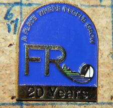 "FR A PLACE WHERE PEOPLE GROW 20 YEARS  SAILBOAT OREGON? 1"" METAL LAPEL PIN"