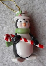 "Lenox Very Merry Porcelain Penguin Ornament in Box 3 1/2"" Tall"